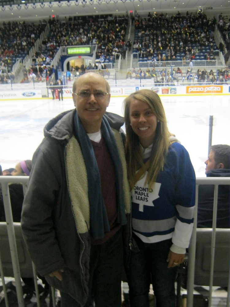 Toronto Marlies game (Christmas 2012).